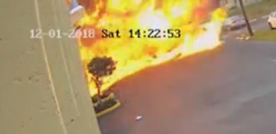 Autistic Children Flee Inferno After Plane Crashes into Building – Killing Pilot and Passenger