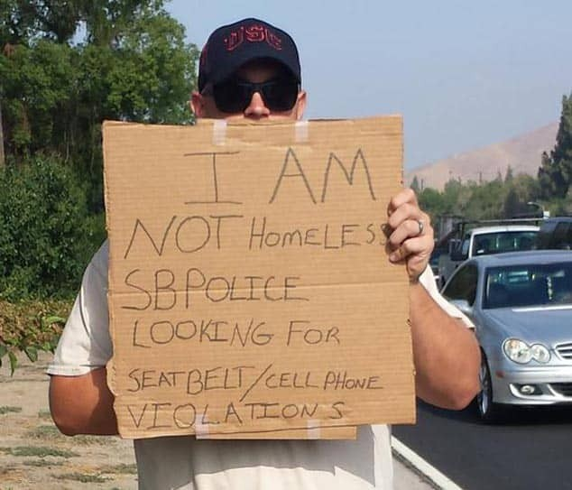 Police Pose As Panhandlers To Nab Distracted Drivers