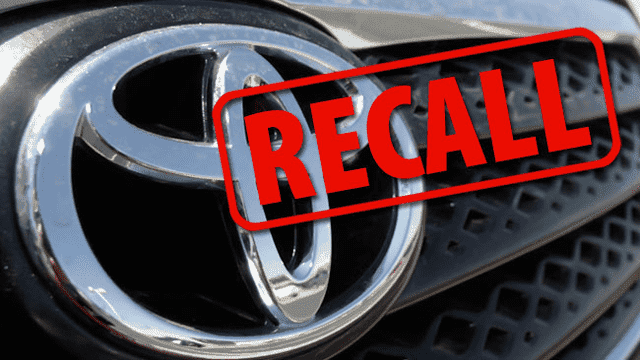 Toyota Recalls 1 Million Vehicles for Fire Risks